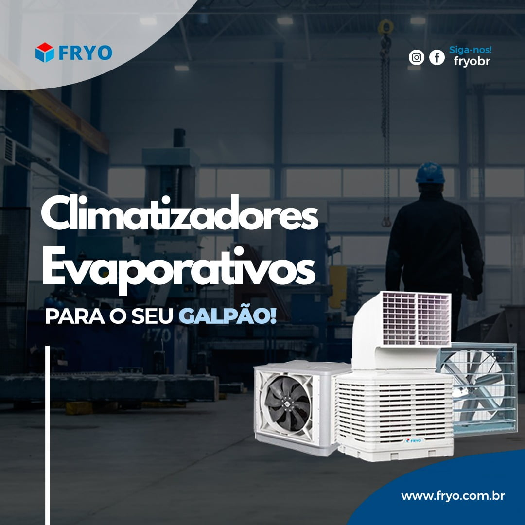 Climatizador Evaporativo para galpão industrial